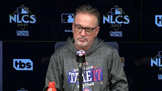 NLCS Gm2: Maddon discusses the 4-1 walk-off loss