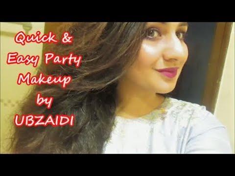 Easy Party Makeup, Birthday Guest Makeup , Medora Lipstick Violet , ubzaidi