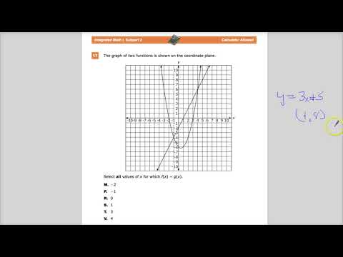 Question 17  - Integrated Math 1  - TNReady Practice Test