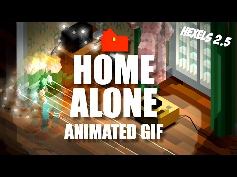HOME ALONE - ANIMATED GIF - HEXELS2 making of