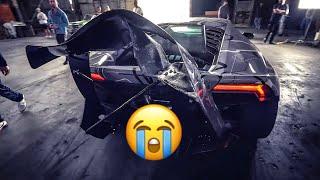 LAMBORGHINI CRASHES IN JAKE PAUL MUSIC VIDEO RANDY SAVAGE! * DESTROYED *