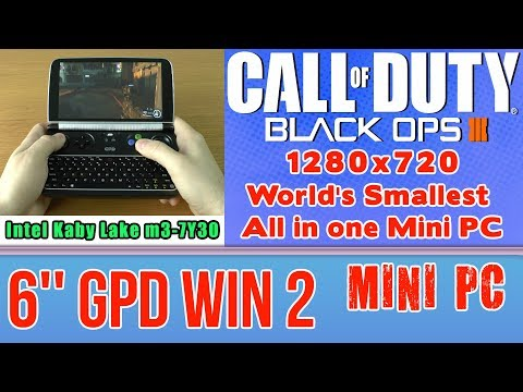 GPD WIN 2 Call of Duty: Black Ops 3 III - 256 GB SSD 8GB RAM Mini PC Intel m3-7Y30 HD Graphics 615