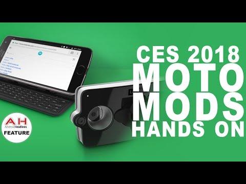 CES 2018 Moto Mods Hands On