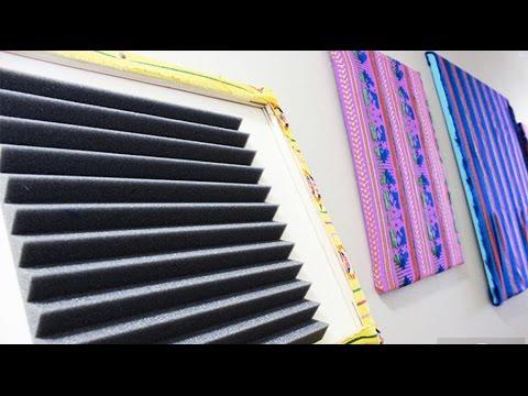 Como Hacer Paneles Acústicos Bonitos para Tu Casa | Live Colorful