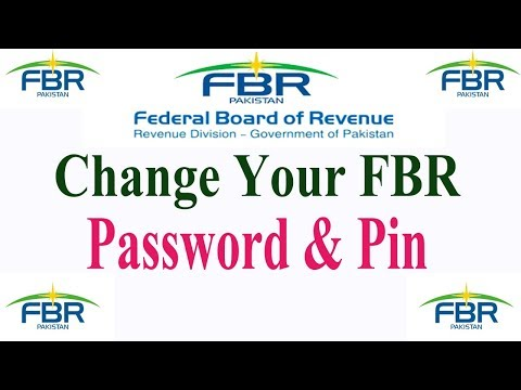 How to Change FBR Login Password and Pin,Change your Income tax Login Password and Pin