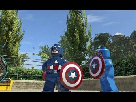 LEGO Marvel Super Heroes (PS4) - Captain America Free Roam Gameplay