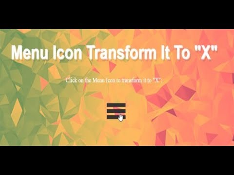 Css Menu Icon Transform, How To Make A Hamburger Menu Css, Navigation Bar Design Css