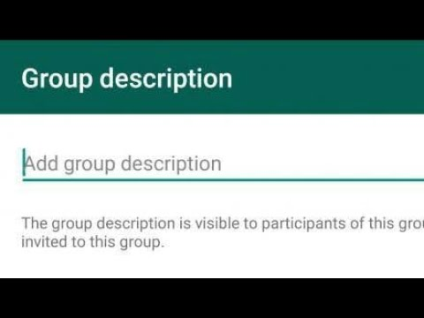 WhatsApp Launch Group Description: Here is How to Add in Android