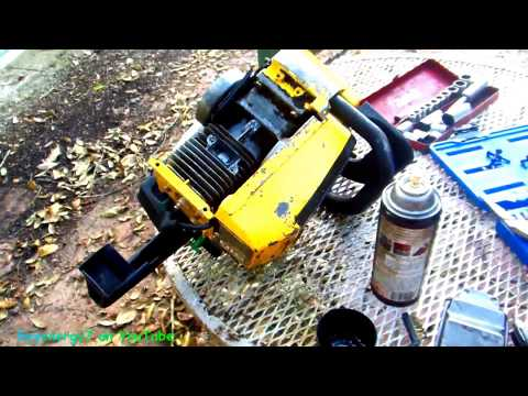 McCulloch Pro Mac 610 Chainsaw, checking the Piston and the exhaust