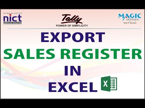 HOW TO EXPORT SALES REGISTER IN TALLY TO EXCEL IN HINDI  || NICT