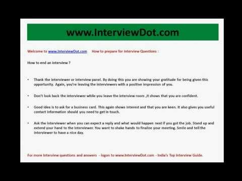 best way to end an interview how to end an interview