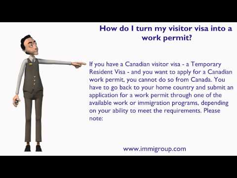 How do I turn my visitor visa into a work permit?