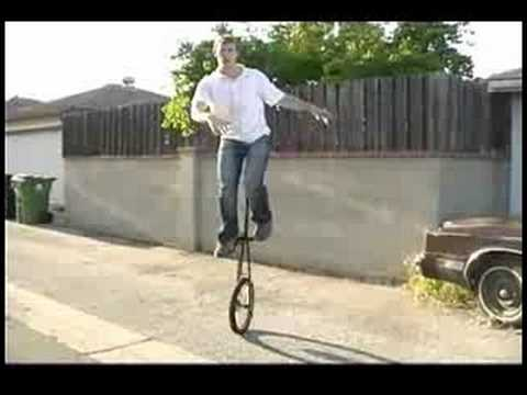 How to Ride a Unicycle : Assisted Mounting a 6 Foot Unicycle