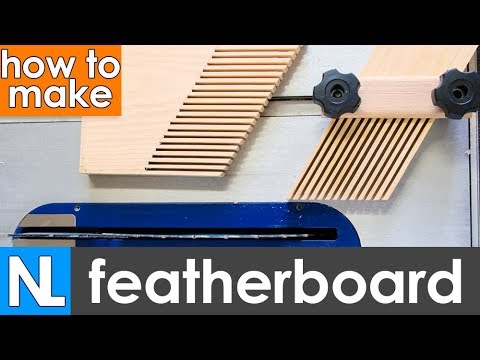 DIY featherboard ~ how to make a fingerboard for a table saw | woodworking tutorial