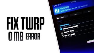 Fix Internal Storage (0MB) In TWRP Recovery - Fix Encryption