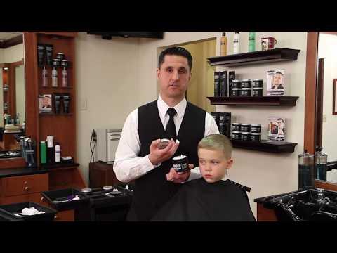 Styling a Short Children's Ivy League Clipper Cut with Hair Cream