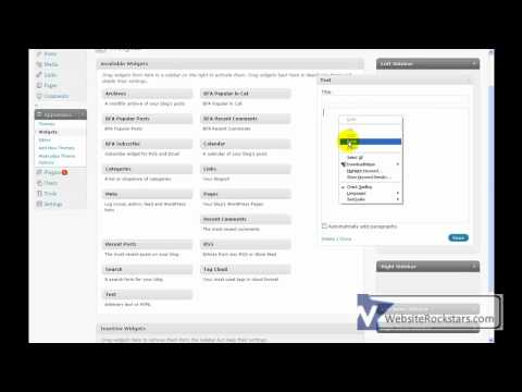Wordpress Tutorial - How to Add a Banner Ad to Your Widget Sidebar in Wordpress