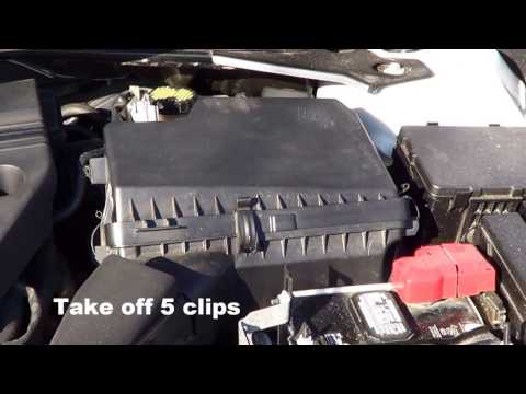 How to change Air filter in a 2015 Nissan Altima.