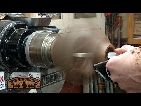 Woodturning Maple And Walnut Floating Vase