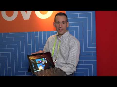 Lenovo Miix 630 Qualcomm Windows 10 Tablet First Look: CES 2018