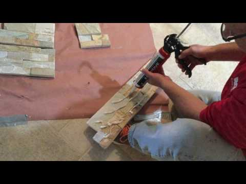 Stone Veneer Installation Using SRW Vertical Instant Lock Adhesive