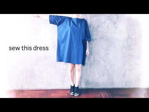 DIY : Sew Square Dress ( Free Pattern from Kokka-fabric.com )