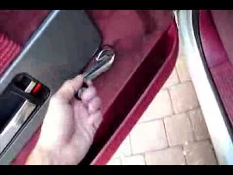 How to remove manual car or truck window crank from door