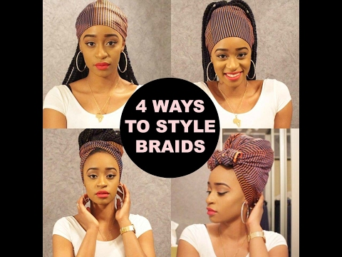 HOW TO STYLE BRAIDS/TWISTS WITH AFRICAN FABRIC