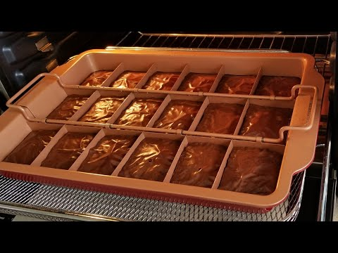 Red Copper Brownie Bonanza Review Brownies Breville Smart Oven Air Easy Brownies