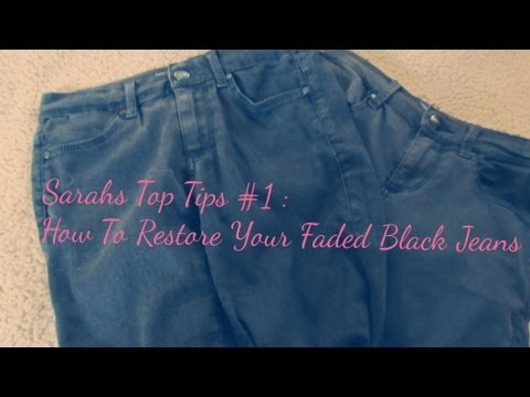 Sarahs Top Tips #1 : How To Restore Your Faded Black Jeans