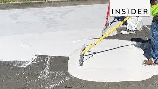Why LA Streets Are Being Painted White