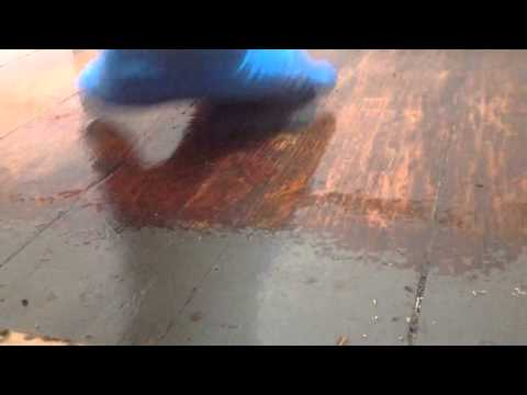 How to refinish wood floors without sanding part 6