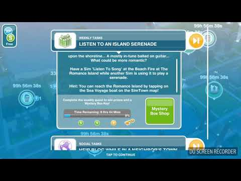 The Sims Freeplay - Listen to an Island Serenade -  Weekly Task