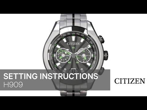 Citizen E820 Setting Instruction Setting Citizen Watch