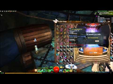 Guild Wars 2: Throwing 1000 rare Swords into the Mystic Forge for Zap.