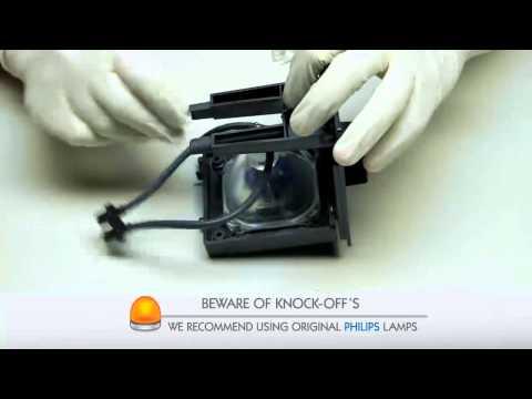 Hitachi UX-21511 TV Lamp Replacement Video Guide
