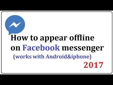 how to appear offline on facebook messenger,works for Both Android and iphone