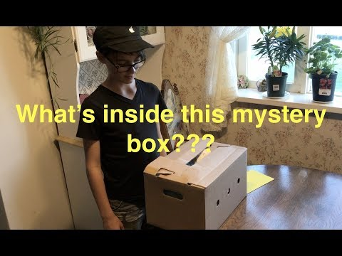Mystery box, what's inside?!? first time unpacking!