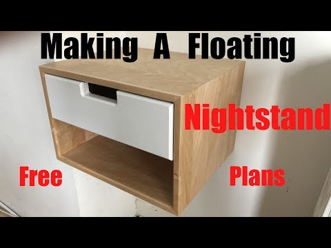 Making A Floating Nightstand | Free Plans | DIY | How to
