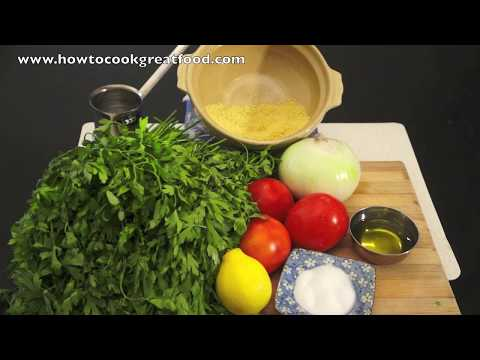 Tabbouleh Recipe - Arabic Parsley Salad - تبولة