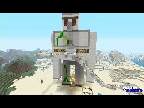 Minecraft - xbox one - Iron golem farm - time lapse.