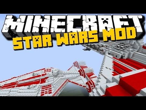 Minecraft: STAR WARS MOD (New Vehicles, Lightsaber and more) Showcase - Brothers Minecraft