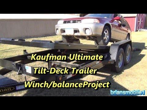 Kaufman Tilt Deck Trailer Project- Winch mounting/balancing