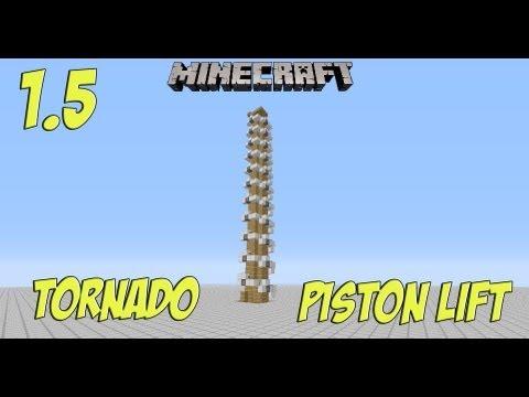 Minecraft (Works in 1.6.2): The Tornado Piston Elevator + Works in SMP