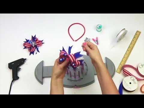 Bow Genius - Patriotic Hair Bow - DIY Bow Maker