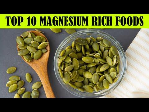 Top 10 Magnesium Rich Foods ---  Foods High in Magnesium