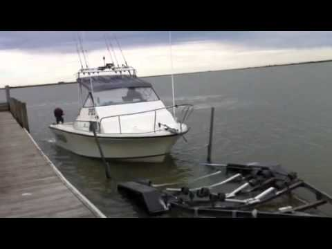 Driving J83 Jet Boat onto trailer