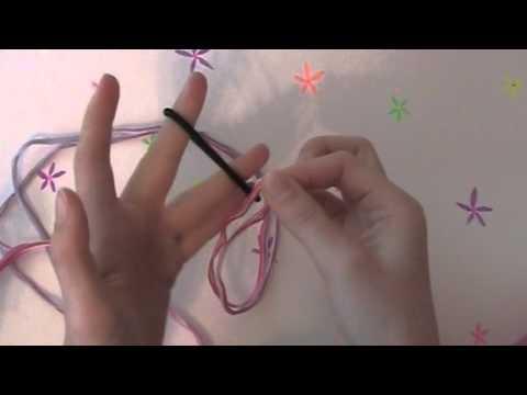 DIY Knotted Bracelet Using....a ponytail holder!