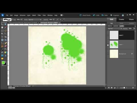 Create a Spray Mist using a Brush in Photoshop Elements