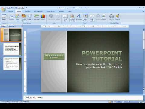 How to create an Action button in Powerpoint 2007